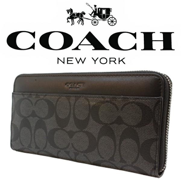 送料無料♪コーチ長財布●シグネチャー PVC レザー・チャコールブラック・F75000●COACHアウトレット・新品・未使用品♪_画像2