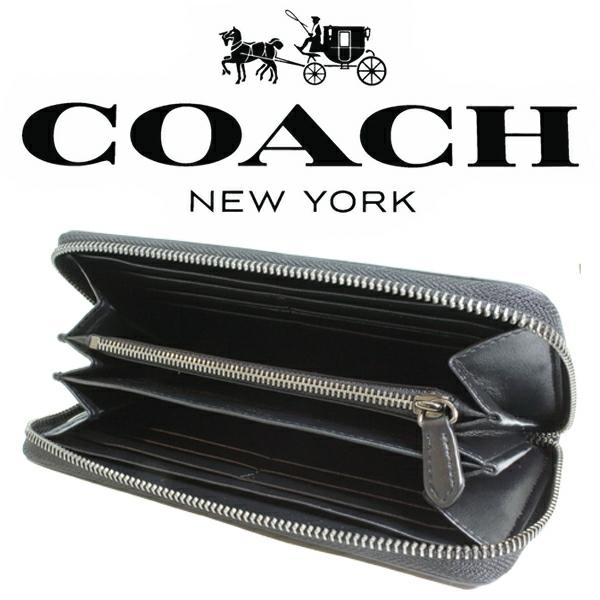 送料無料♪コーチ長財布●シグネチャー PVC レザー・チャコールブラック・F75000●COACHアウトレット・新品・未使用品♪_画像7