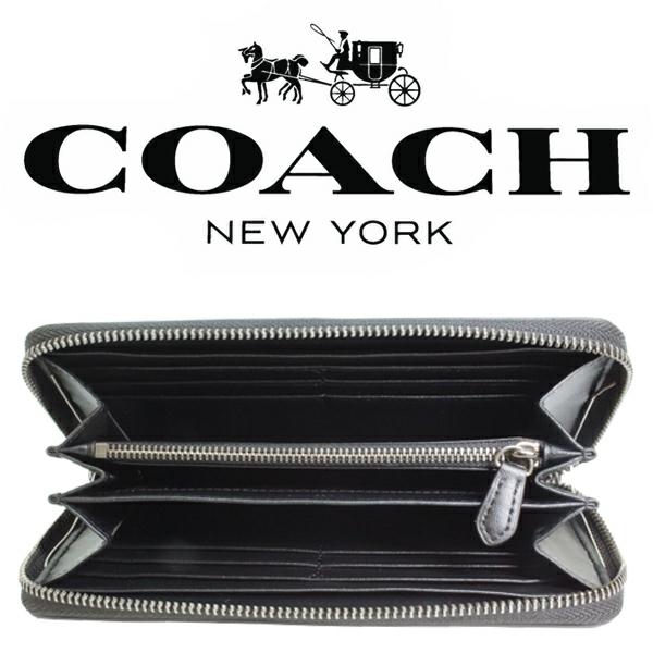 送料無料♪コーチ長財布●シグネチャー PVC レザー・チャコールブラック・F75000●COACHアウトレット・新品・未使用品♪_画像6