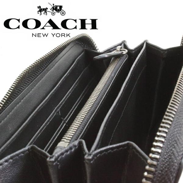 送料無料♪コーチ長財布●シグネチャー PVC レザー・チャコールブラック・F75000●COACHアウトレット・新品・未使用品♪_画像9