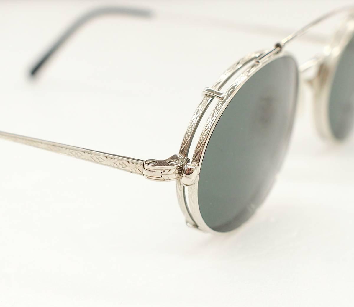 クリップオン付き OLIVER PEOPLES オリバーピープルズ OP-67 S 眼鏡 サングラス_画像4