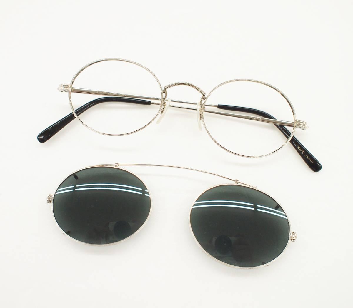 クリップオン付き OLIVER PEOPLES オリバーピープルズ OP-67 S 眼鏡 サングラス_画像2