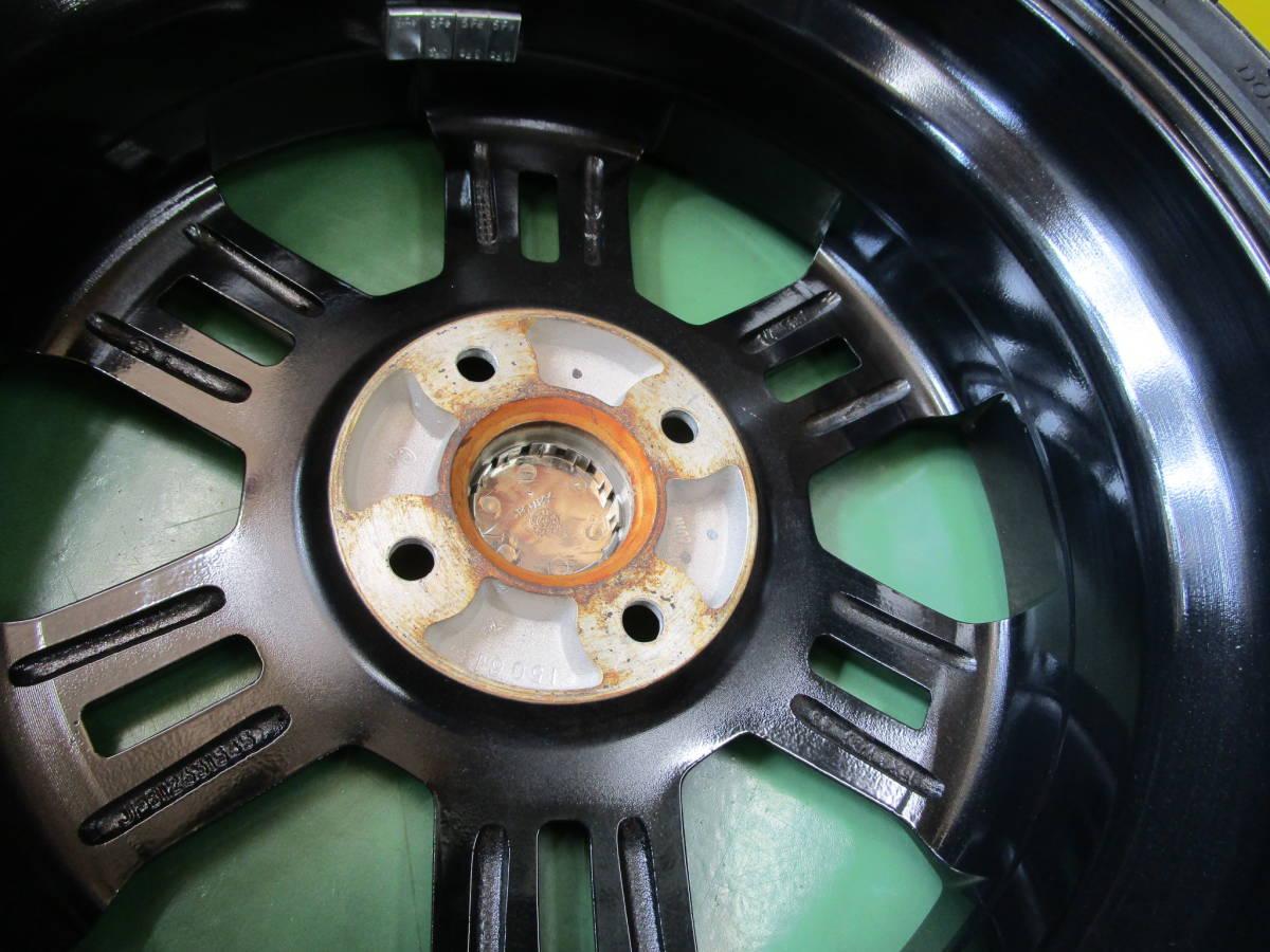 Y2)中古アルミ・タイヤ ダイハツ純正ムーウ゛カスタム 15×4.5J+45 100/4H ハンコック ベンタスV8RS 165/45R15 4本_画像7