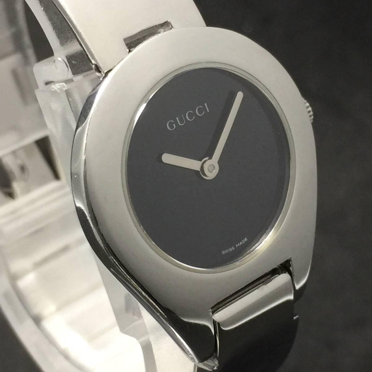 【1円良品】GUCCI グッチ 腕時計 レディース 6700L バングル ブラック ミラーダイヤル 可動品
