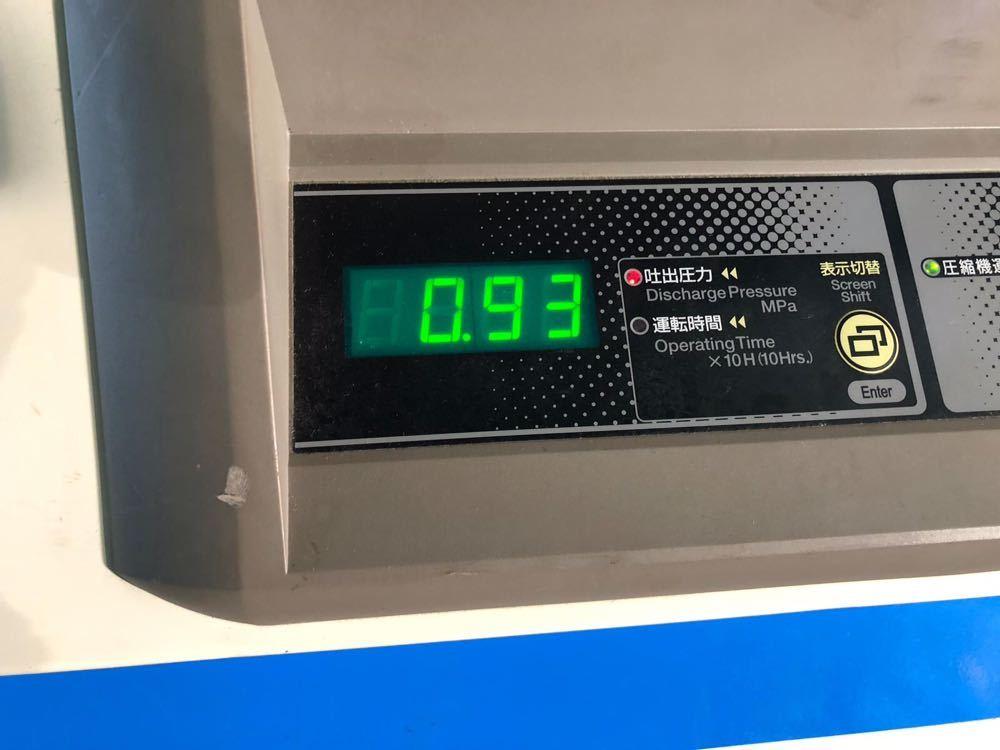 ☆ 中古 日立 小型空気圧縮機 ベビコン 7.5KW エアコンプレッサー PB-7.5MN6 3相 200V 60Hz ☆ 953時間_画像9