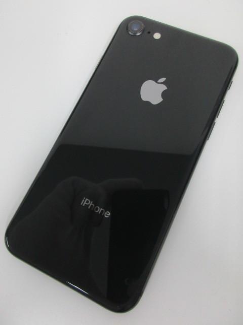 【1円スタート】 au SIMロック解除品 iPhone 8 MQ782J/A 64GB スペースグレイ   アイフォン Apple AU SpaceGray