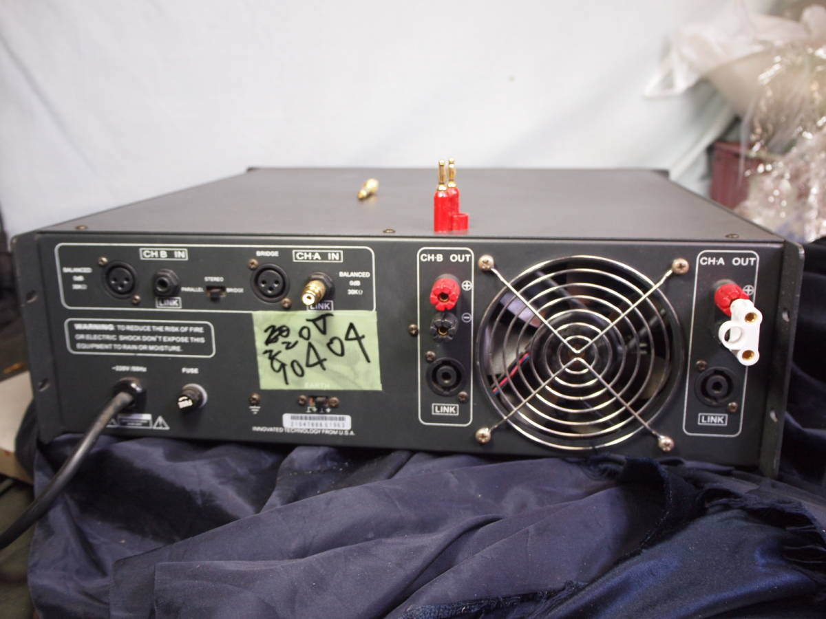220V  ALES パワーアンプ PX-2600 完動美品【3ヶ月保証 】_画像7