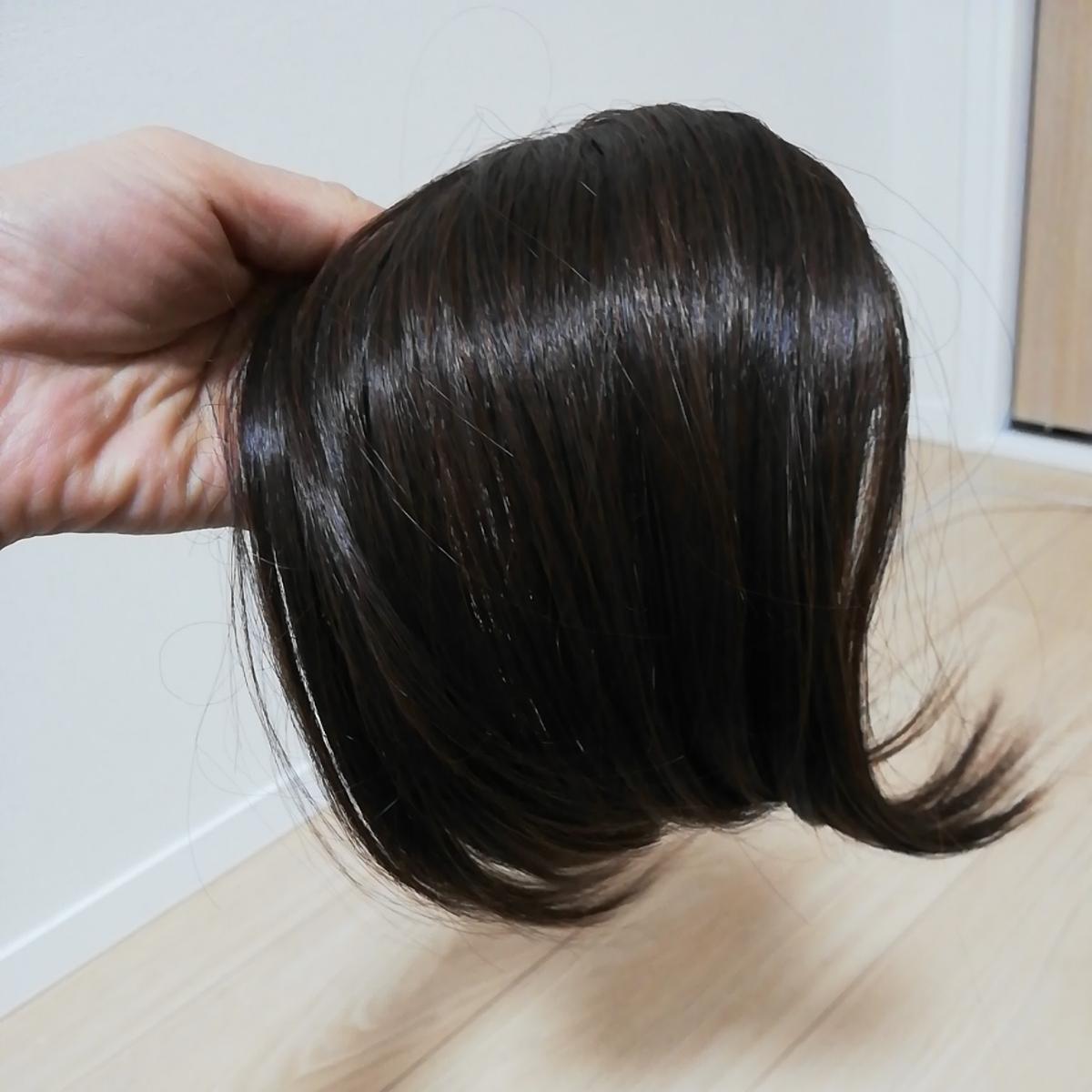 超美品★前髪 ウイッグ サラサラ ブラウン_画像1
