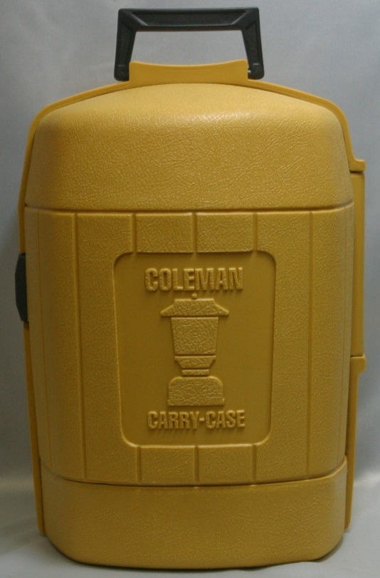 コールマン (後期型 丸ハンドル)220・228系 クラムシェル ランタンケース 83/1 /希少・廃盤【黄色】coleman ヴィンテージ