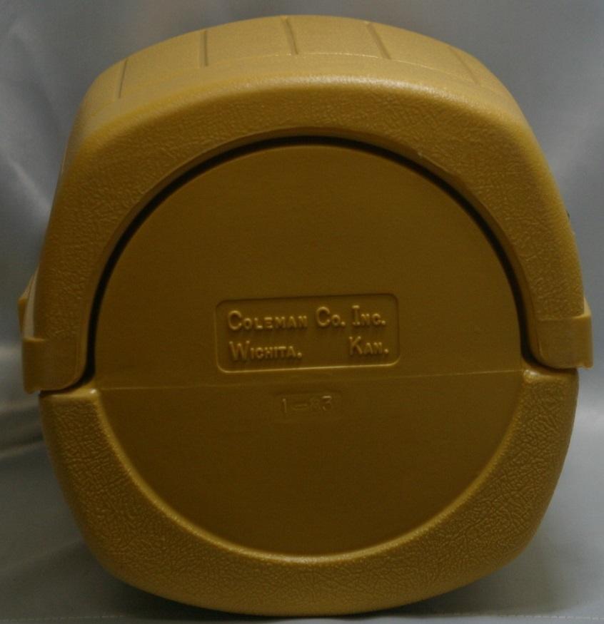 コールマン (後期型 丸ハンドル)220・228系 クラムシェル ランタンケース 83/1 /希少・廃盤【黄色】coleman ヴィンテージ_画像9