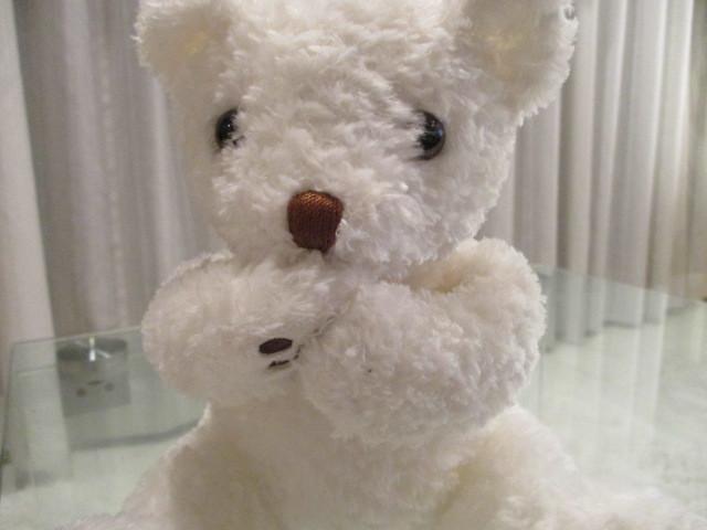 ◆本物 セリーヌ 可愛い白テディベア ぬいぐるみ 新同◆_画像2