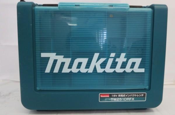 HR182H マキタ makita インパクトレンチ TW251D 充電式 リチウムイオンバッテリー2個付 バッテリーセット 通電確認済_画像2