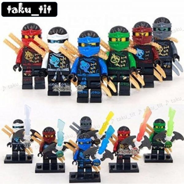6 Lego Ninjago Figur LEGO Bau- & Konstruktionsspielzeug LEGO Minifiguren
