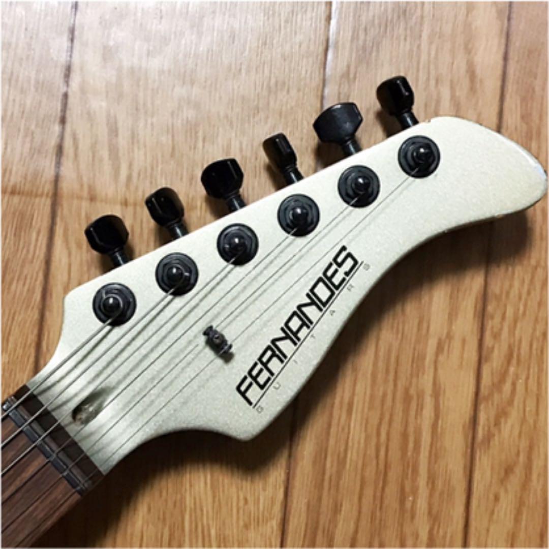 ■ FERNANDES フェルナンデス JG ジャガー型 ギター X エックス ヒデ hide 音出しOK Guitar 2ハムバッカー トレモロ ゆうパックおてがる版_画像6