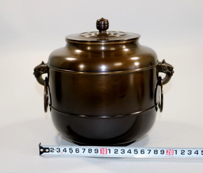 茶道具 唐銅皆具一揃 八尾祥栄作◆sd28_画像6
