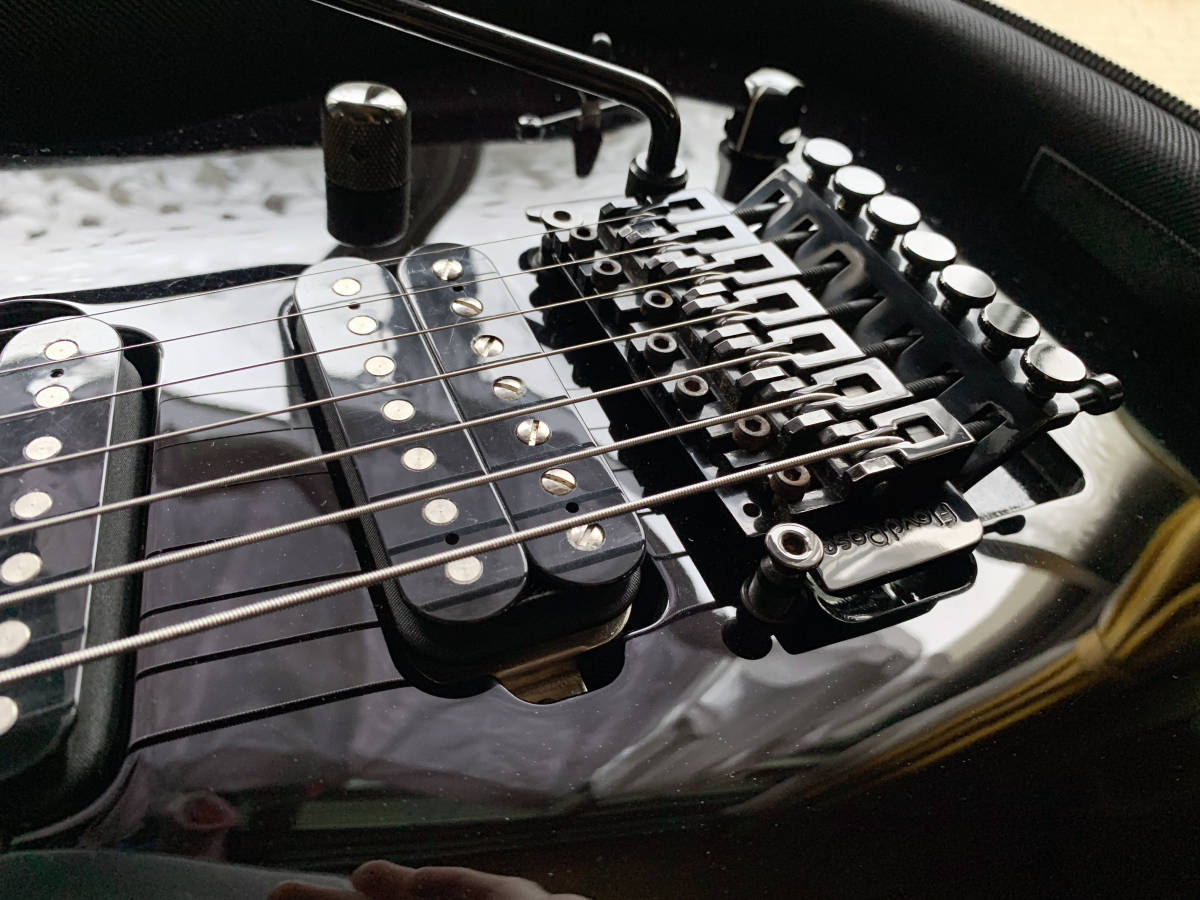 中古美品 レア Caparison TAT-Special7 7弦 エレキギター 黒 キャパリソン / ESP JACKSON USA GIBSON METAL スルーネック ARCH ENEMY_画像5