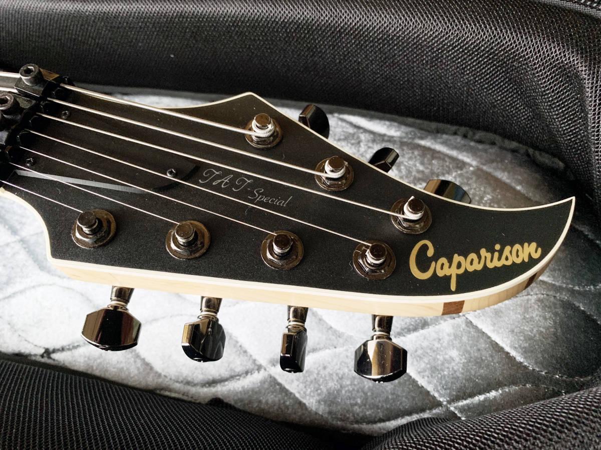 中古美品 レア Caparison TAT-Special7 7弦 エレキギター 黒 キャパリソン / ESP JACKSON USA GIBSON METAL スルーネック ARCH ENEMY_画像10
