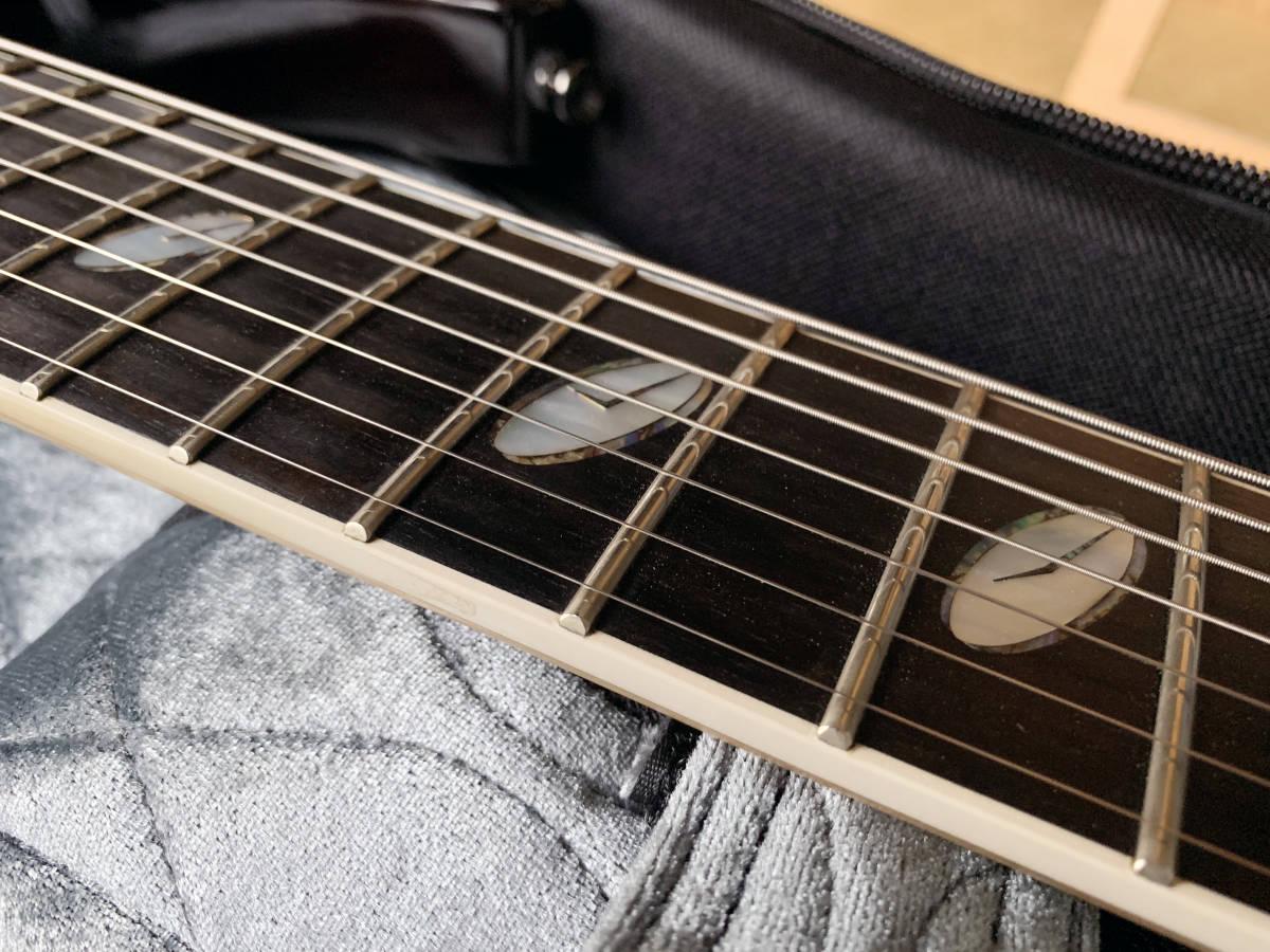 中古美品 レア Caparison TAT-Special7 7弦 エレキギター 黒 キャパリソン / ESP JACKSON USA GIBSON METAL スルーネック ARCH ENEMY_画像7