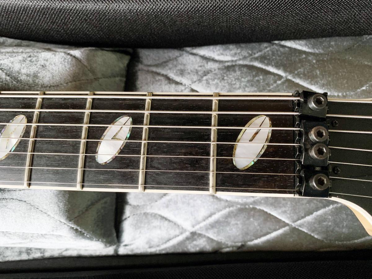 中古美品 レア Caparison TAT-Special7 7弦 エレキギター 黒 キャパリソン / ESP JACKSON USA GIBSON METAL スルーネック ARCH ENEMY_画像9