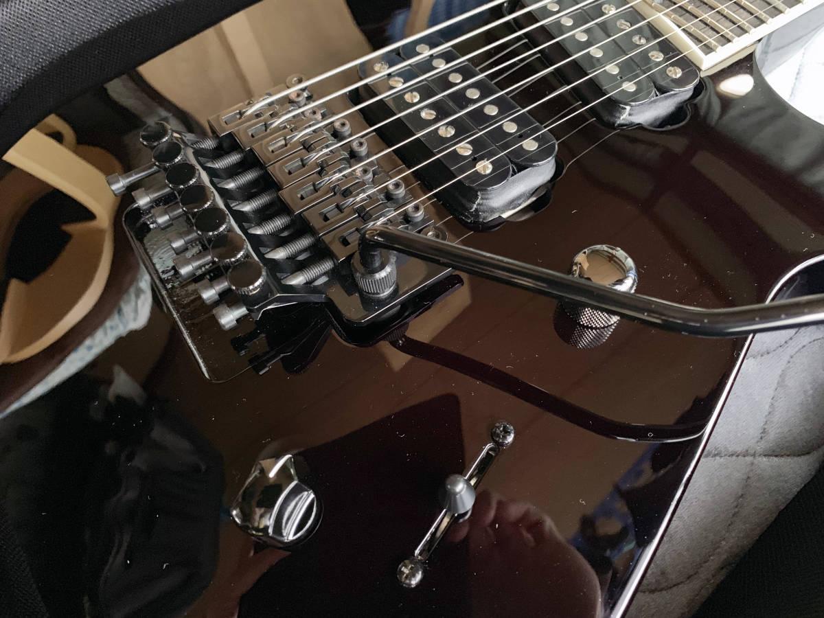 中古美品 レア Caparison TAT-Special7 7弦 エレキギター 黒 キャパリソン / ESP JACKSON USA GIBSON METAL スルーネック ARCH ENEMY_画像3