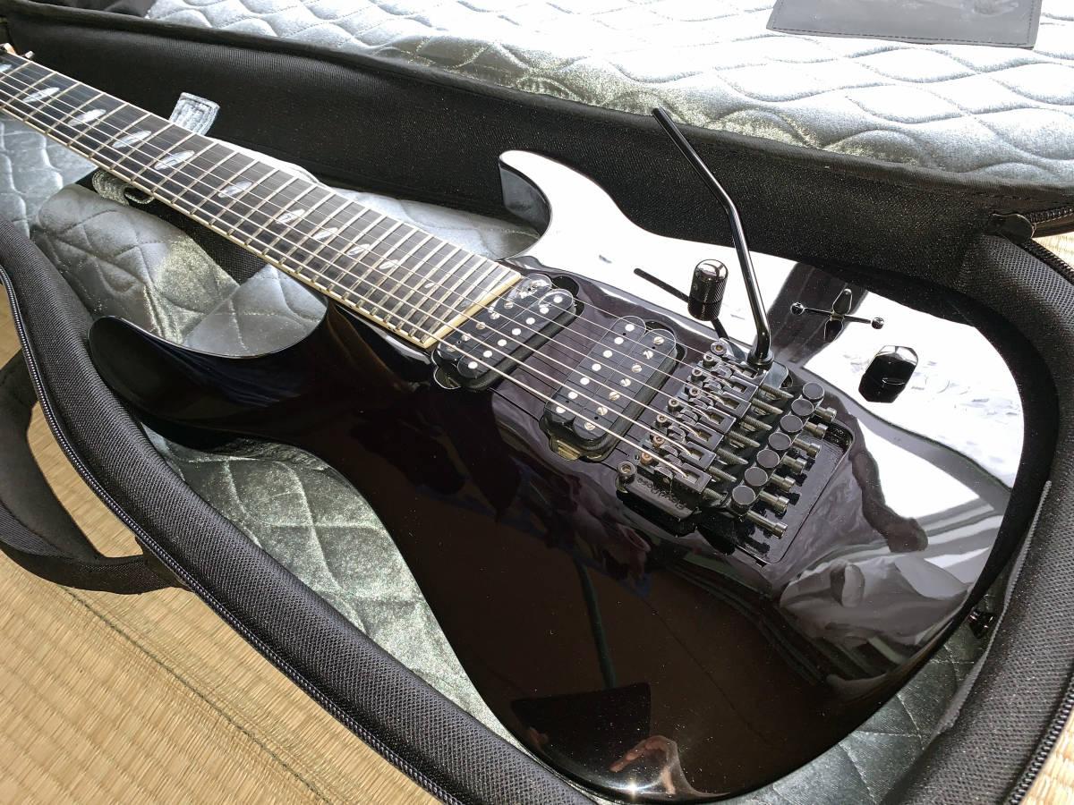中古美品 レア Caparison TAT-Special7 7弦 エレキギター 黒 キャパリソン / ESP JACKSON USA GIBSON METAL スルーネック ARCH ENEMY
