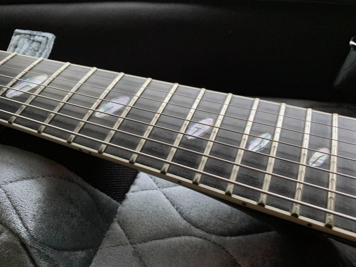 中古美品 レア Caparison TAT-Special7 7弦 エレキギター 黒 キャパリソン / ESP JACKSON USA GIBSON METAL スルーネック ARCH ENEMY_画像8