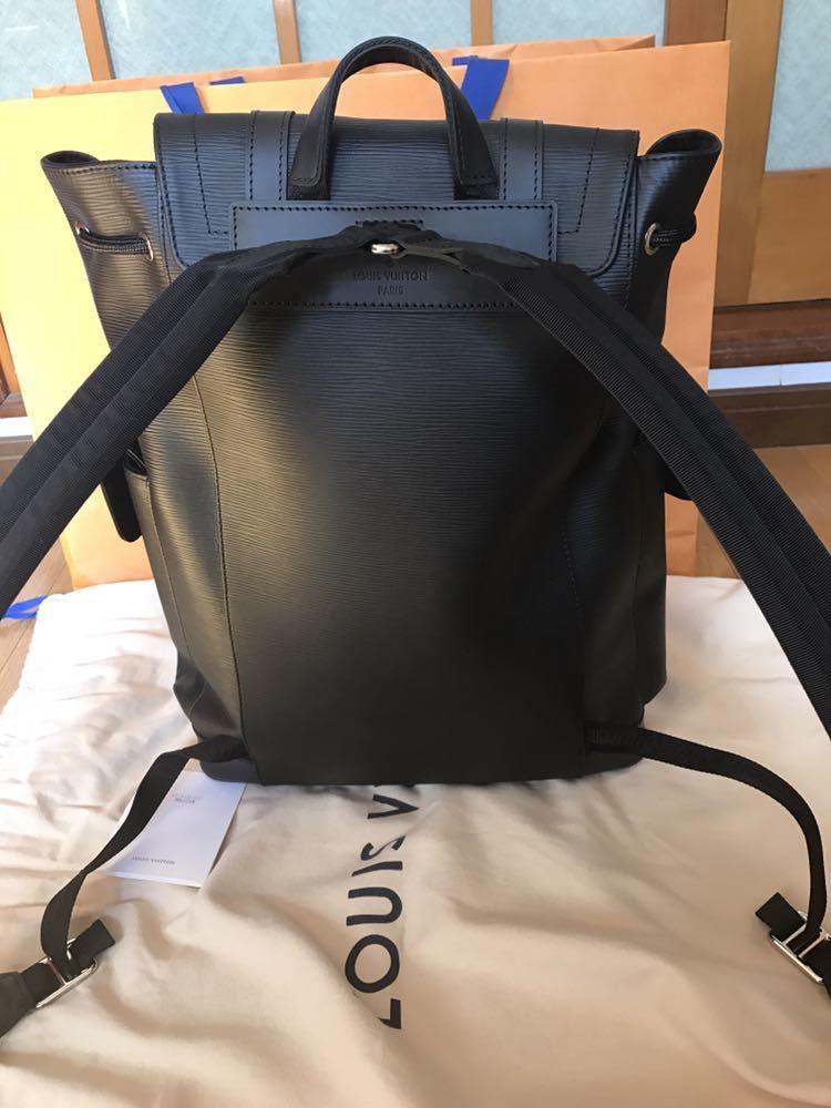 Louis Vuitton Supreme ルイヴィトン×シュプリーム 17aw エピ クリストファーPM バックパック リュック ブラック 黒_画像4