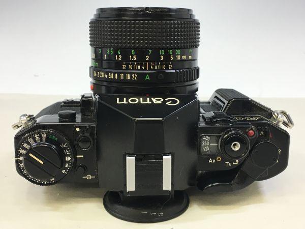 M402-52/HY3000 Canon キャノン A-1 50㎜ 1:1.4 《データバック・フラッシュ・レンズフード・フィルタ付》一眼レフ 中古カメラ_画像4