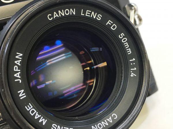 M402-52/HY3000 Canon キャノン A-1 50㎜ 1:1.4 《データバック・フラッシュ・レンズフード・フィルタ付》一眼レフ 中古カメラ_画像3