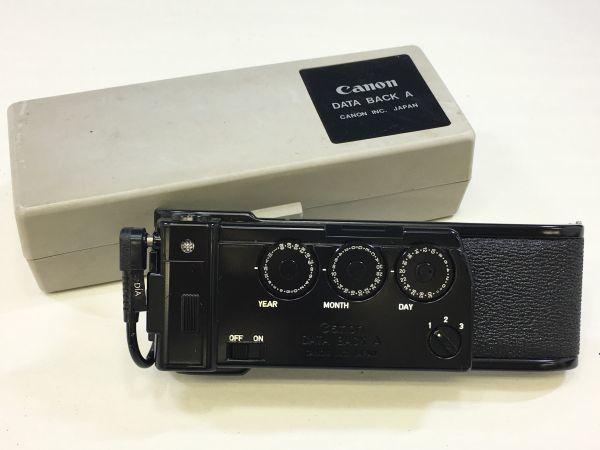 M402-52/HY3000 Canon キャノン A-1 50㎜ 1:1.4 《データバック・フラッシュ・レンズフード・フィルタ付》一眼レフ 中古カメラ_画像9