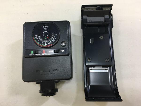 M402-52/HY3000 Canon キャノン A-1 50㎜ 1:1.4 《データバック・フラッシュ・レンズフード・フィルタ付》一眼レフ 中古カメラ_画像10