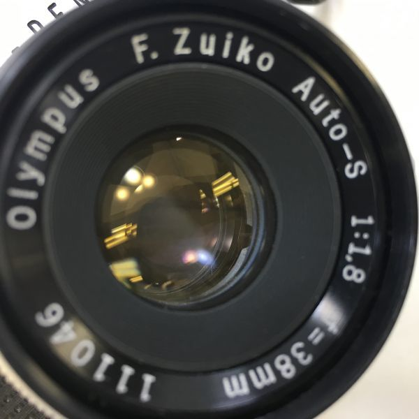 M501-3/MM3000 オリンパス OLYMPUS ペンF PEN F+レンズ2点! ☆ 1:1.8 F=38mm/ 1:3.5 F=50-90mm ★中古カメラ コンパクト一眼  _画像3
