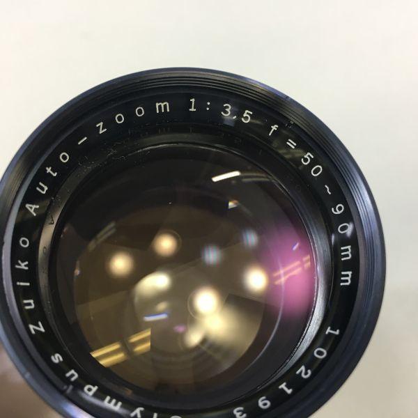 M501-3/MM3000 オリンパス OLYMPUS ペンF PEN F+レンズ2点! ☆ 1:1.8 F=38mm/ 1:3.5 F=50-90mm ★中古カメラ コンパクト一眼  _画像8