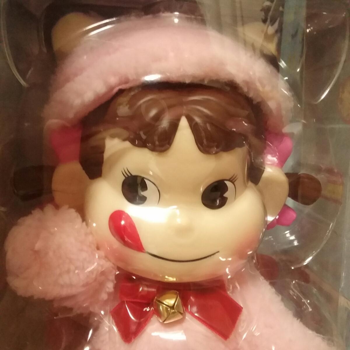 数量限定 PEKO DOLL ペコドール ペコちゃん 人形 猫 ピンク 着ぐるみ セブンイレブン 不二家 限定 ぬいぐるみ ミルキー プレゼント_画像3
