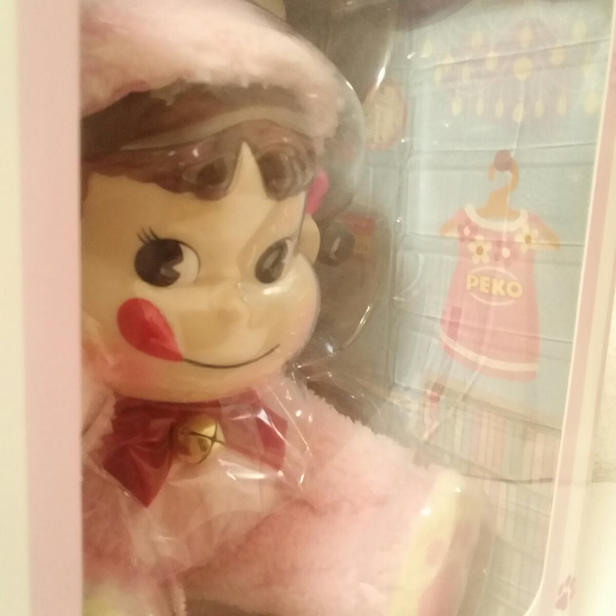 数量限定 PEKO DOLL ペコドール ペコちゃん 人形 猫 ピンク 着ぐるみ セブンイレブン 不二家 限定 ぬいぐるみ ミルキー プレゼント_画像6