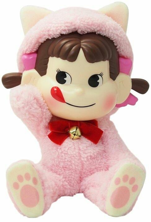 数量限定 PEKO DOLL ペコドール ペコちゃん 人形 猫 ピンク 着ぐるみ セブンイレブン 不二家 限定 ぬいぐるみ ミルキー プレゼント_画像1