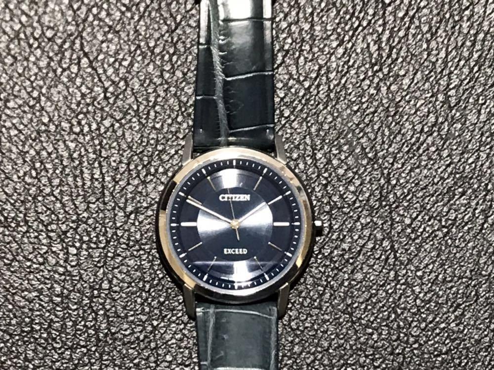 CITIZEN シチズン EXCEED エクシード エコドライブ ソーラー発電 メンズ腕時計 美品_画像6