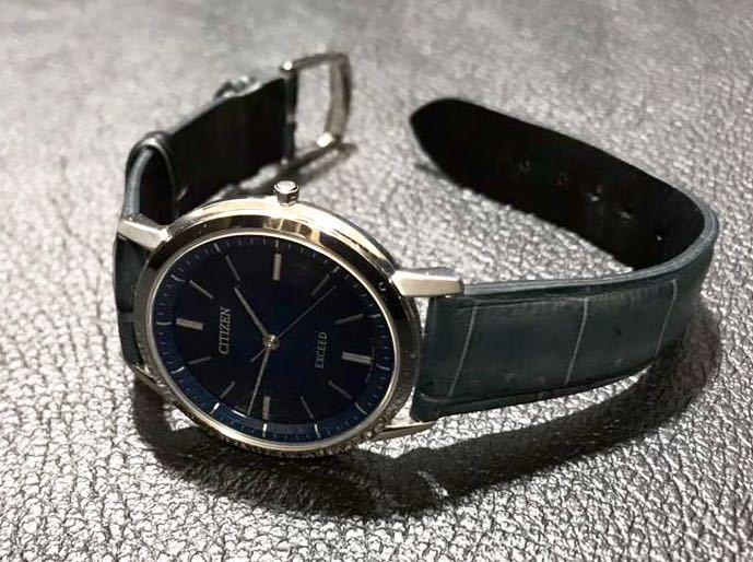 CITIZEN シチズン EXCEED エクシード エコドライブ ソーラー発電 メンズ腕時計 美品_画像5