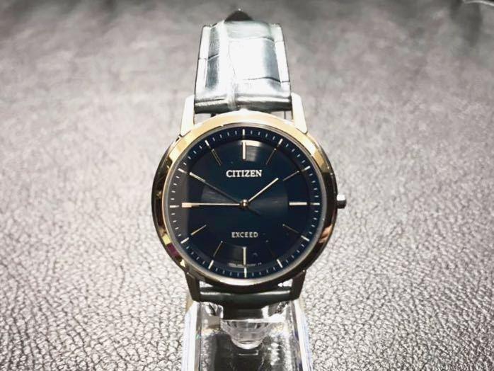CITIZEN シチズン EXCEED エクシード エコドライブ ソーラー発電 メンズ腕時計 美品_画像2