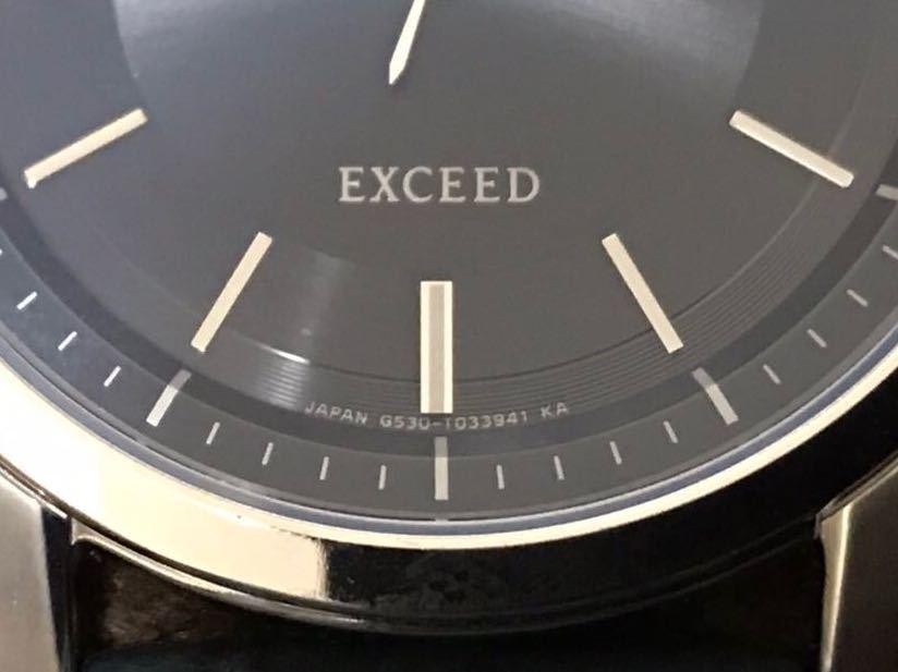 CITIZEN シチズン EXCEED エクシード エコドライブ ソーラー発電 メンズ腕時計 美品_画像10