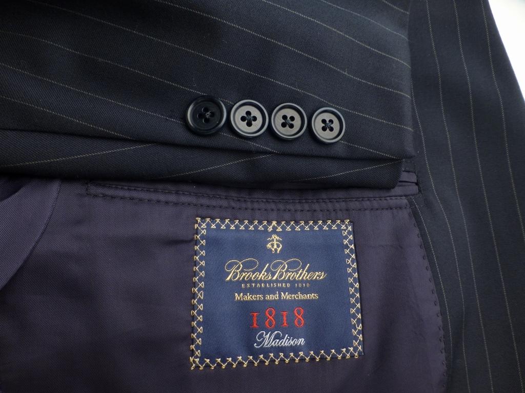◆ブルックスブラザーズ スーツ 42L 紺ストライプ イタリア生地 Madison_画像2