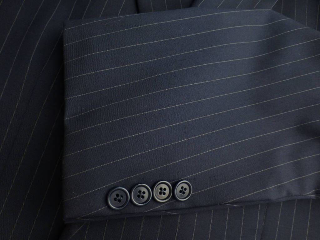◆ブルックスブラザーズ スーツ 42L 紺ストライプ イタリア生地 Madison_画像4