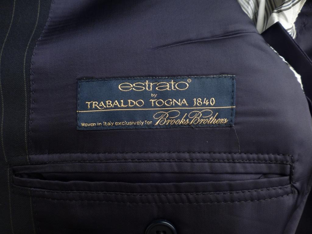 ◆ブルックスブラザーズ スーツ 42L 紺ストライプ イタリア生地 Madison_画像3