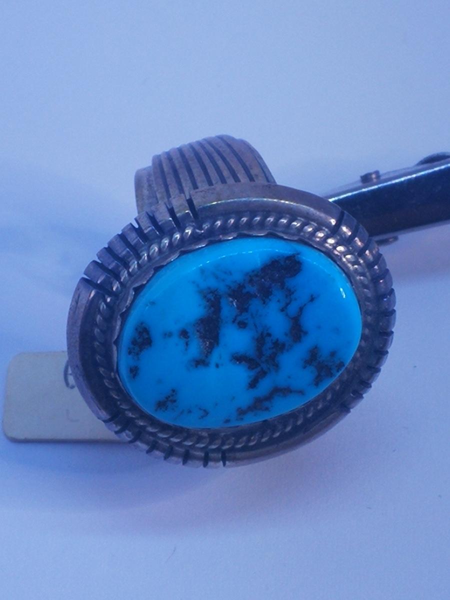 USAインディアンジュエリーナバホ族Navajo 天然石リングサイズ10指輪ジュエリースターリングシルバー重量14.1gターコイズ定価¥18360値下げ_画像2
