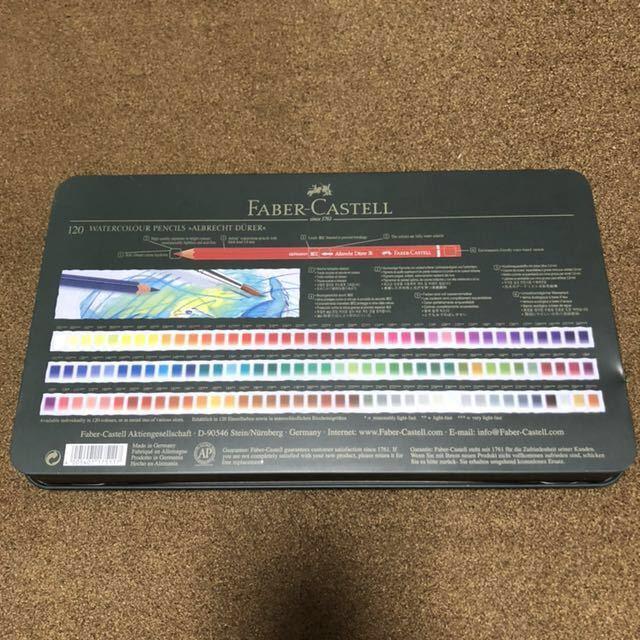 FABER-CASTELL ファーバーカステル アルブレヒトデューラー 水彩色鉛筆 120色 ウォーターブラシ ステッドラー スケッチブック セット_画像2