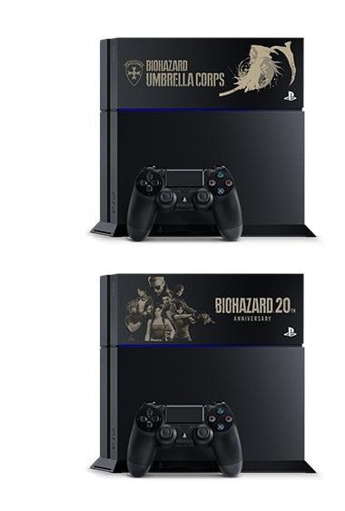 PS4本体 500GB  バイオハザード ブラック  20周年記念限定刻印モデル BIOHAZARD RESIDENT EVIL ※送料無料 _画像1