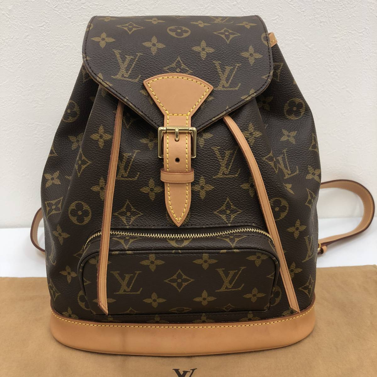 LOUIS VUITTON ルイヴィトン モノグラム モンスリMM M51136 リュックサック 美品 バックパック ルイ・ヴィトン_画像2