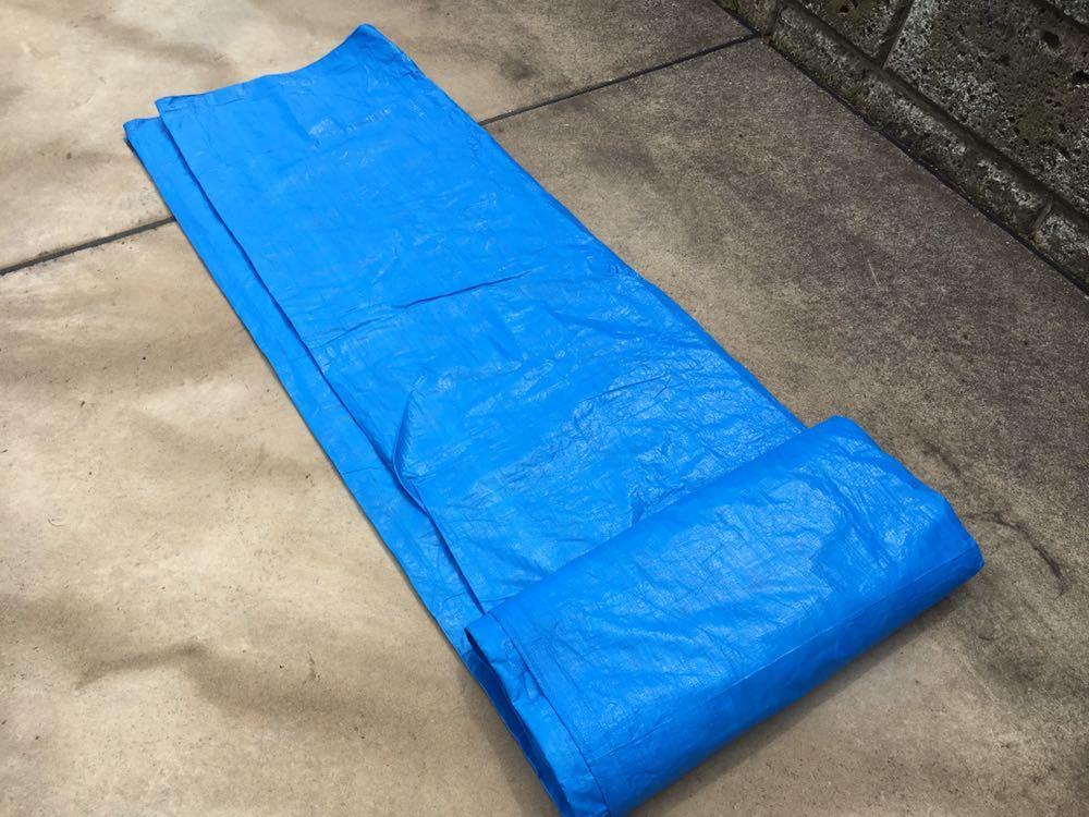 ブルーシート 5.4m×5.4m レジャーシート グランドシート キャンプ テント_画像3