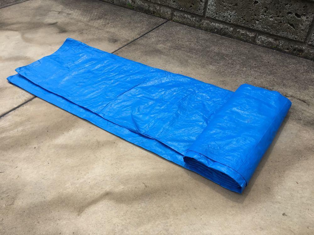 ブルーシート 5.4m×5.4m レジャーシート グランドシート キャンプ テント_画像4