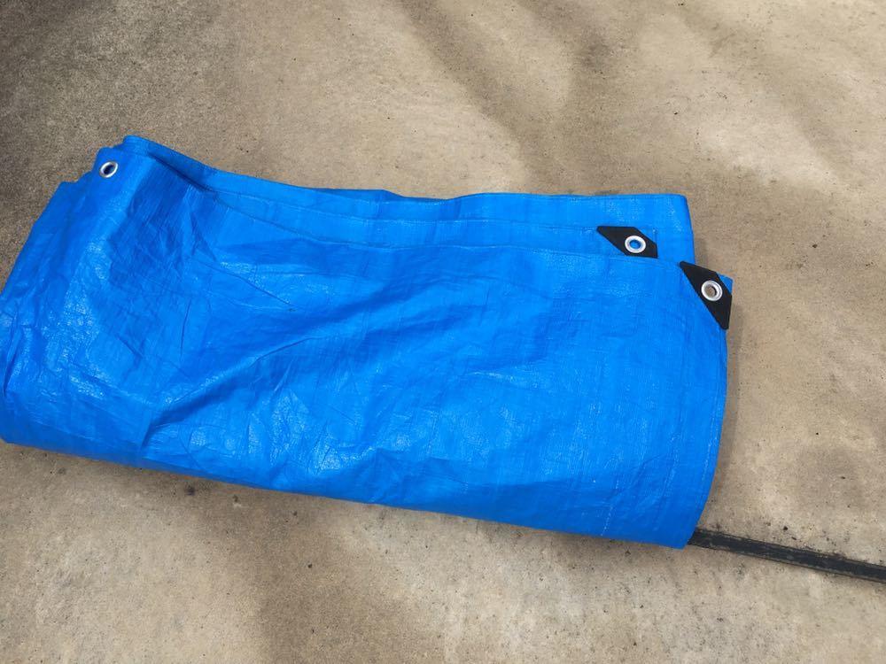 ブルーシート 5.4m×5.4m レジャーシート グランドシート キャンプ テント_画像2